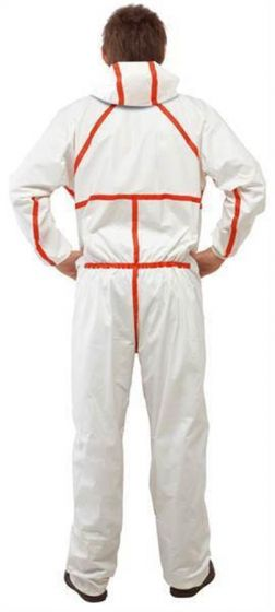 4565 Coverall White+Red Type 4/5/6 Size XL Pack of 20-4565WXL-Camlab
