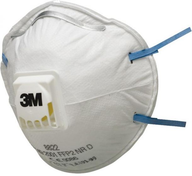 3M 8822 FFP2 Valved Dust/Mist Respirator Pack of 10-8822-Camlab