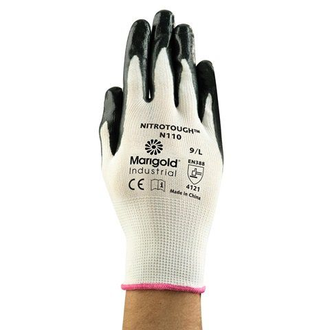 Nitrotough N110 Marigold Gloves - Pack of 12 Pairs