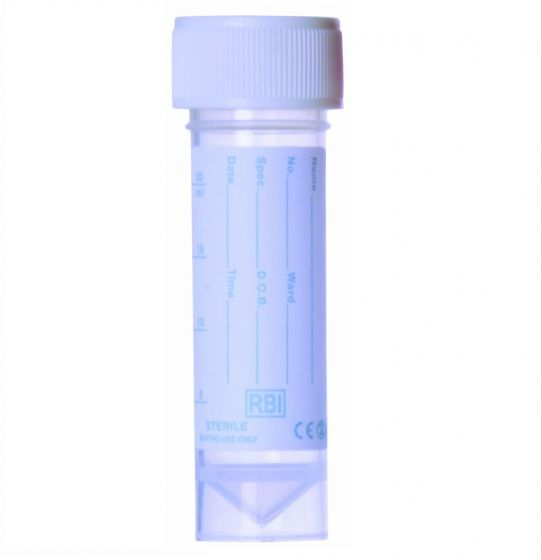 30ml Universal Polypropylene Container with Screw Cap -  Printed Label - Pack of 400