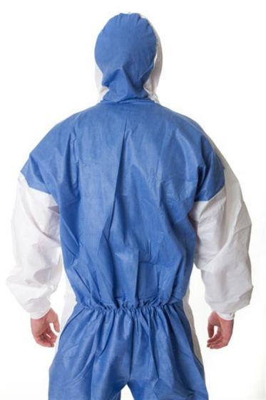 3M 4535 Coverall White & Blue Type 5/6 - L Pack of 20-camlab