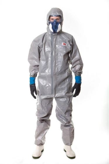 4570 Coverall Grey Type 3/4/5/6 Size 3XL Pack of 12-camlab