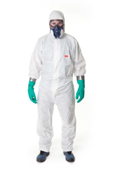 3M 4545 Coverall White Type 5/6 Size XXXL Pack of 20
