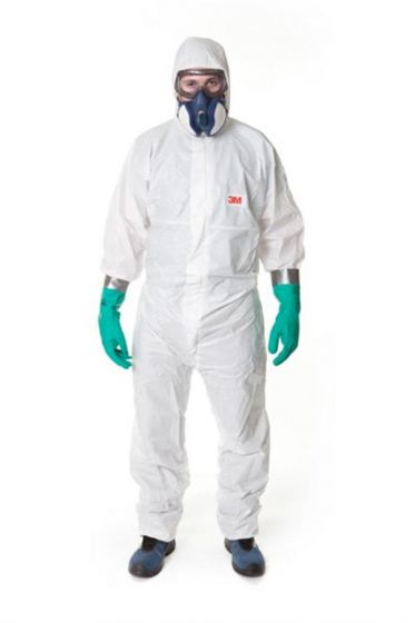 3M 4545 Coverall White Type 5/6 Size XXXXL Pack of 20-camlab