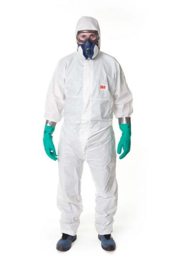 3M 4545 Coverall White Type 5/6 Size M Pack of 20-camlab