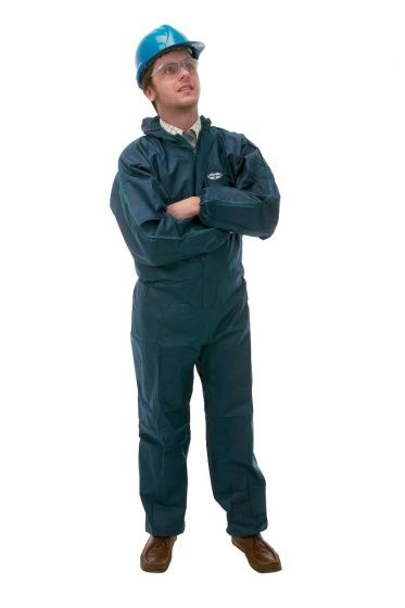 KLEENGUARD A10 Light Duty Coveralls - Hooded/S Blue 50 Garments