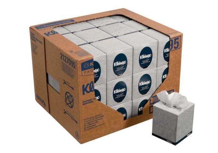 21270 KLEENEX  Facial Tissue - Cube - White - 36 x 95 Sheets