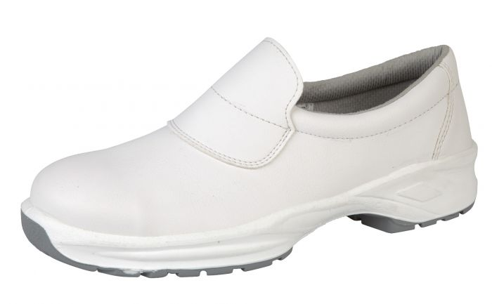 9950 Himalayan White Microfibre Slip-On Shoes