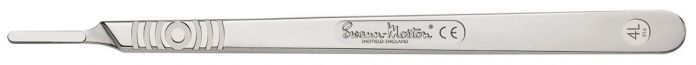 0914 Swann-Morton Stainless Steel Scalpel Handle No.4L - Non-Sterile - Pack of 10