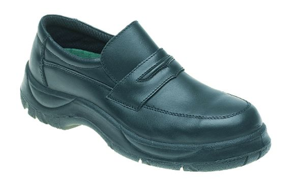 611 Black Himalayan Wide Grip Slip on Safety Shoe