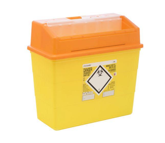 FM4180OL 30L Sharpsafe® sharps container with Orange Lid