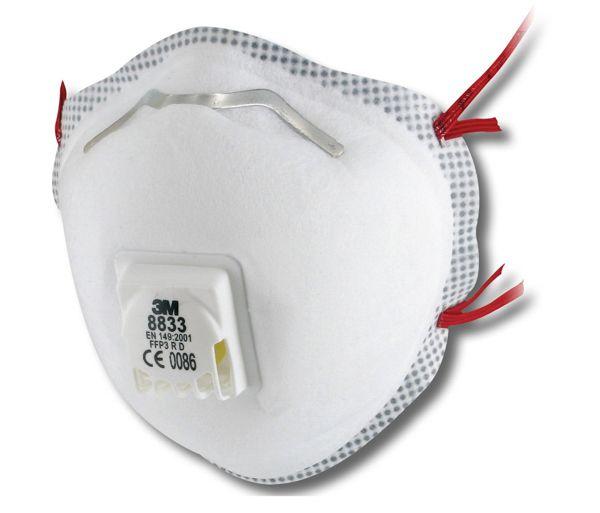 3M 8833 FFP3 Soft Seal Valved Dust/Mist Respirator - Pack of 10