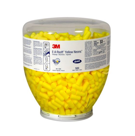 E-A-Rsoft Yellow Neon Refill Bag Pack of 500 X 4