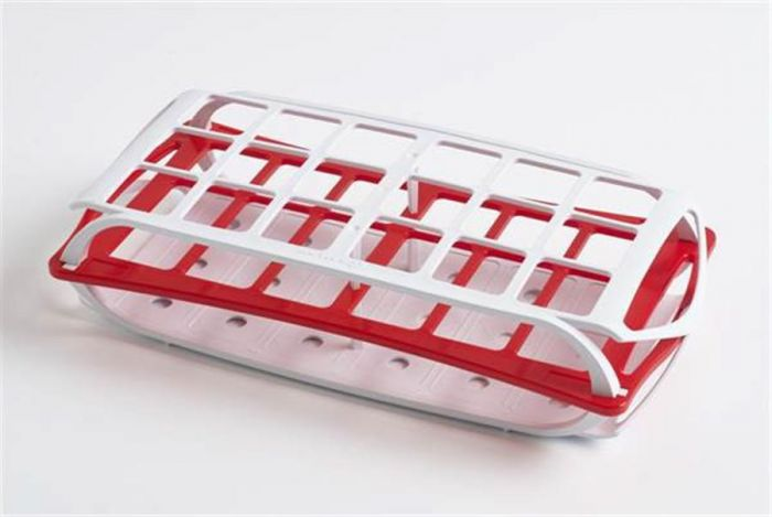 3 Tier Rack For 30mm Tubes - Red holds up to 18 tubes